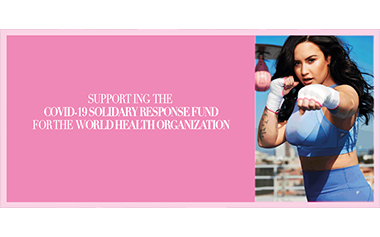 Demi Lovato Wearing Activewear From FABLETICS for COVID-19 Solidarity Response Fund