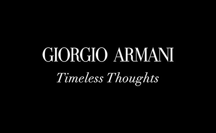 NEWS - ARMANI WILL HOST A NON-GUEST FASHION SHOW RELEASED IN DIGITAL LIVE AND TV CHANNEL