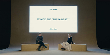 RAF SIMONS' FIRST FASHION SHOW AFTER JOINING PRADA