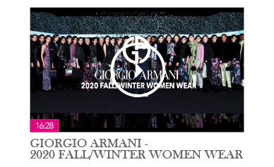 GIORGIO ARMANI FALL/WINTER 2020 WOMEN WEAR