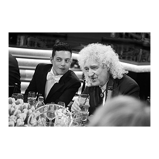 Rami Malek and Queen's guitarist Brian May