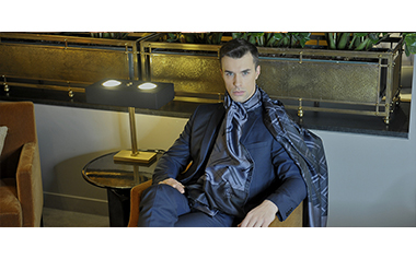 Men's Designer Scarves By Leila Altamirova